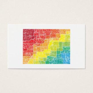 colorado color counties business card