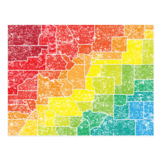 colorado color counties postcard