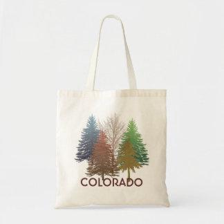 Colorado colorful trees reusable grocery bag