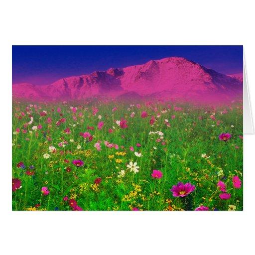 Colorado colorido, montaña máxima de los lucios tarjeta de felicitación