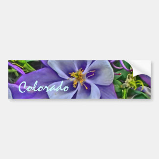 Colorado columbine bumpersticker bumper sticker