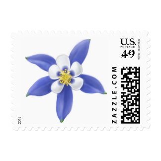 Colorado Columbine Flower Postage