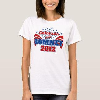 Colorado con Mitt Romney 2012 Playera