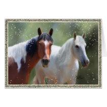 Colorado Country Christmas Horse card