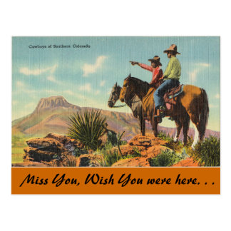Colorado, Cowboys of Southern Colorado Postcard