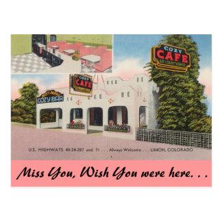 Colorado, Cozy Cafe Post Card