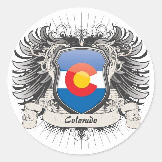 Colorado Crest Classic Round Sticker