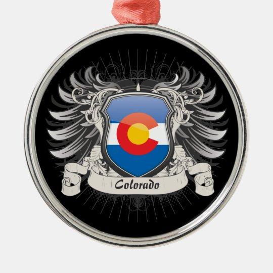 Colorado Crest Metal Ornament