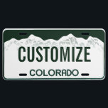 """Colorado Custom License Plate<br><div class=""""desc"""">Customizable Colorado license plate. Personalize and add your own custom text!</div>"""
