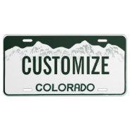 Colorado Custom License Plate at Zazzle