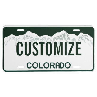 Colorado Custom License Plate