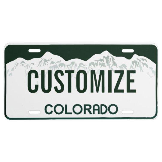 Personalized License Plate Colorado