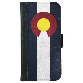 Colorado Dark Grunge Flag iPhone 6 Wallet Case