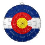 colorado dartboard with darts