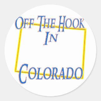 Colorado - del gancho etiqueta redonda