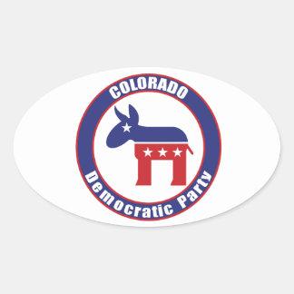 Colorado Democratic Party Oval Sticker