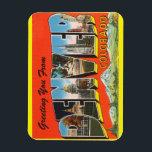 "Colorado, Denver Magnet<br><div class=""desc"">Vintage Travel Large Letter Post Card Image Magnet  Vintage Tichnor Image / Boston Public Library Collection</div>"