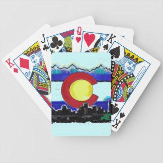 Colorado Denver skyline artistic playing cards