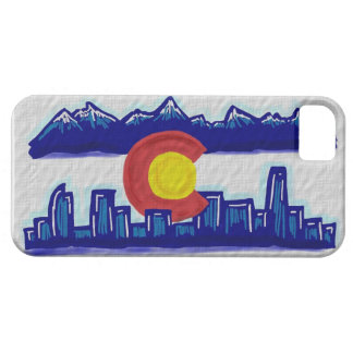 Colorado Denver skyline weather flag iphone 5 case