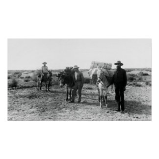 COLORADO DESERT MINERS c. 1900 Poster