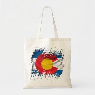 Colorado destrozado bolsa tela barata