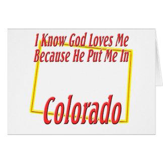 Colorado - dios me ama felicitación
