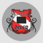Colorado Diver Round Sticker