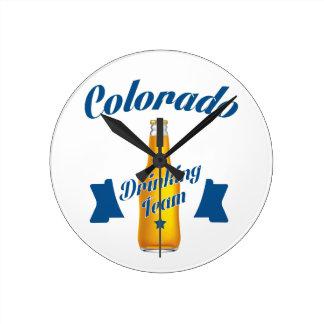 Colorado Drinking team Round Clock