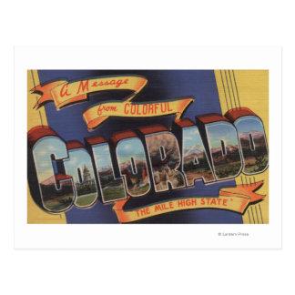 Colorado (el alto estado de la milla) tarjetas postales