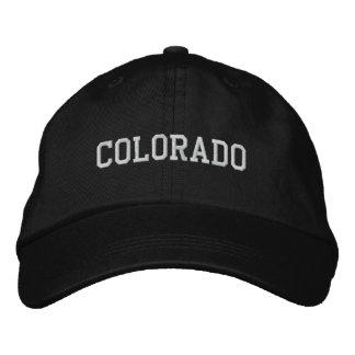 Colorado Embroidered Adjustable Cap Black Embroidered Baseball Cap