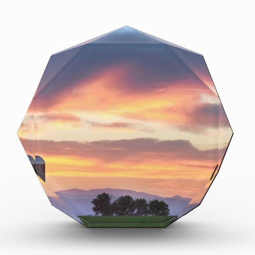 Colorado Farmers Sunset Acrylic Award