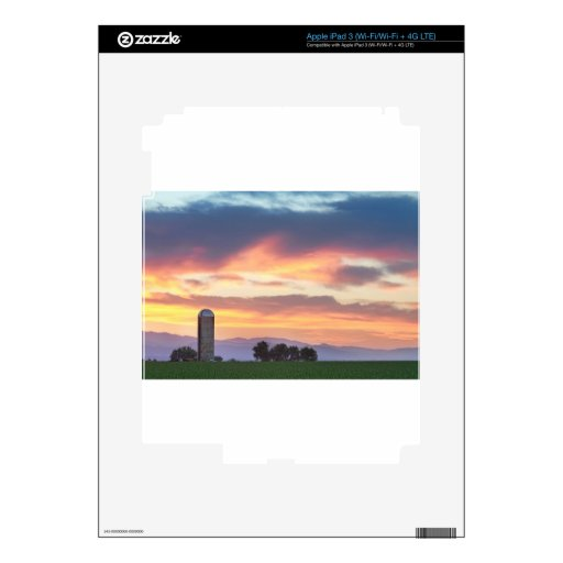 Colorado Farmers Sunset Decal For iPad 3