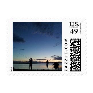 Colorado Fishing postcard Postage Stamp