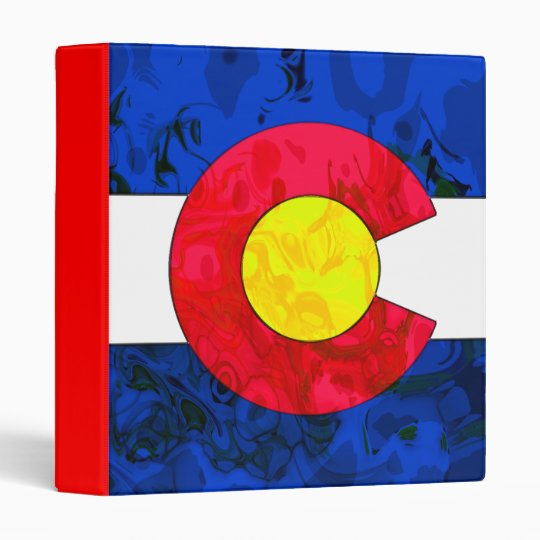 "COLORADO FLAG 1"" Ring Binder"