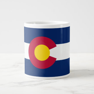 Colorado Flag 20 Oz Large Ceramic Coffee Mug