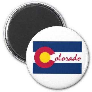Colorado Flag 2 Inch Round Magnet
