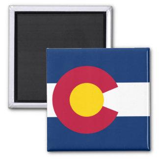 Colorado Flag 2 Inch Square Magnet