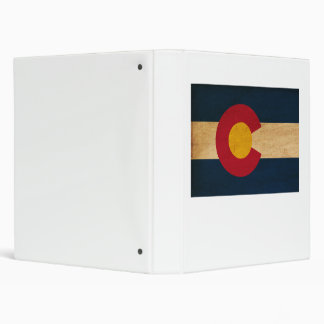 Colorado Flag 3 Ring Binder