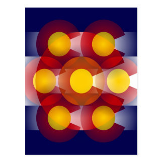 Colorado Flag Abstract Postcard