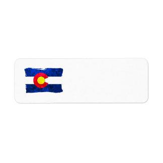 COLORADO FLAG Address Labels Return Address Label