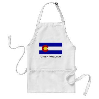Colorado flag adult apron