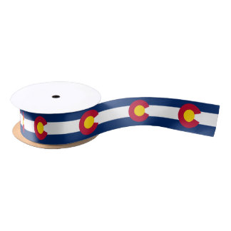 Colorado flag, American state flag ribbon