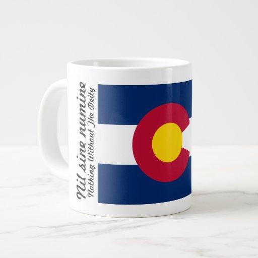Colorado Flag and Motto 20 oz Mug Jumbo Mug