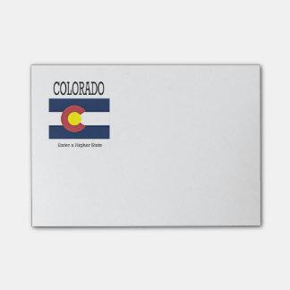 Colorado flag and slogan post-it notes