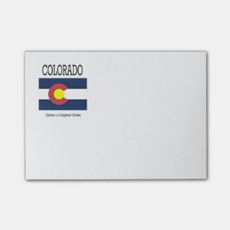 Colorado flag and slogan post-it® notes