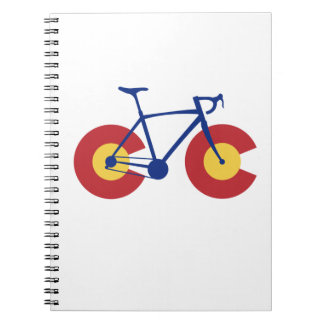Colorado Flag Bicycle Notebook