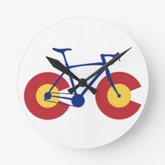 Colorado Flag Bicycle Round Clock