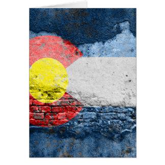 colorado flag brick wall card