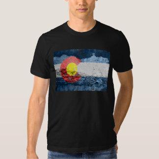 colorado flag brick wall shirt
