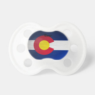 Colorado Flag Brushed Pacifier